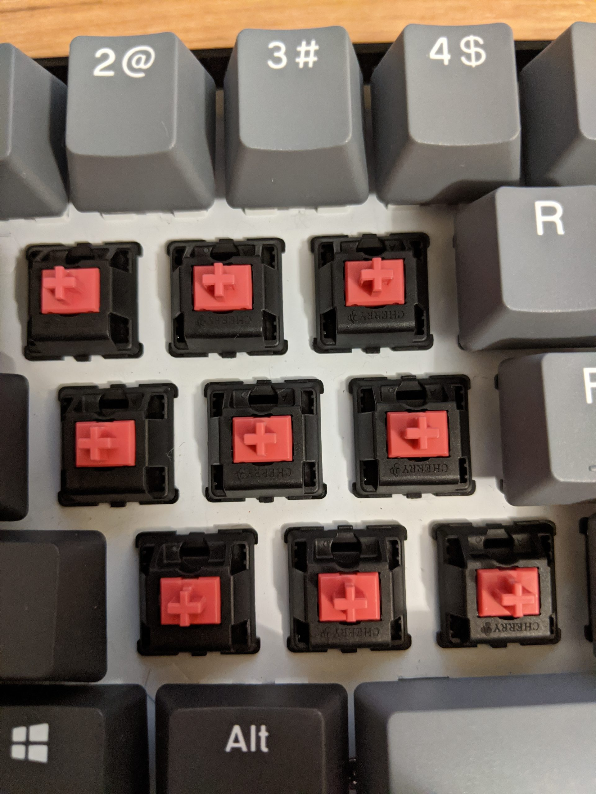 Cherry MX Silent Red (Pink) switches.