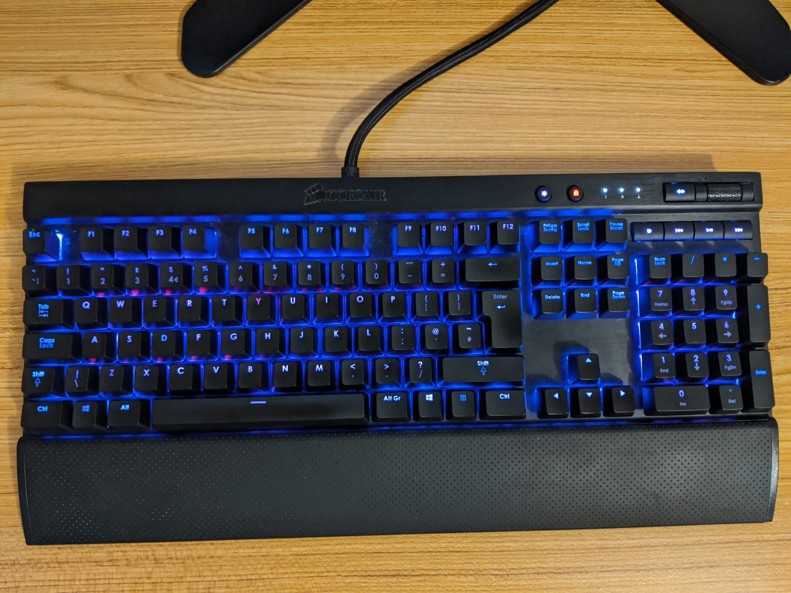 A Corsair K70 RGB with Cherry MX Brown switches.