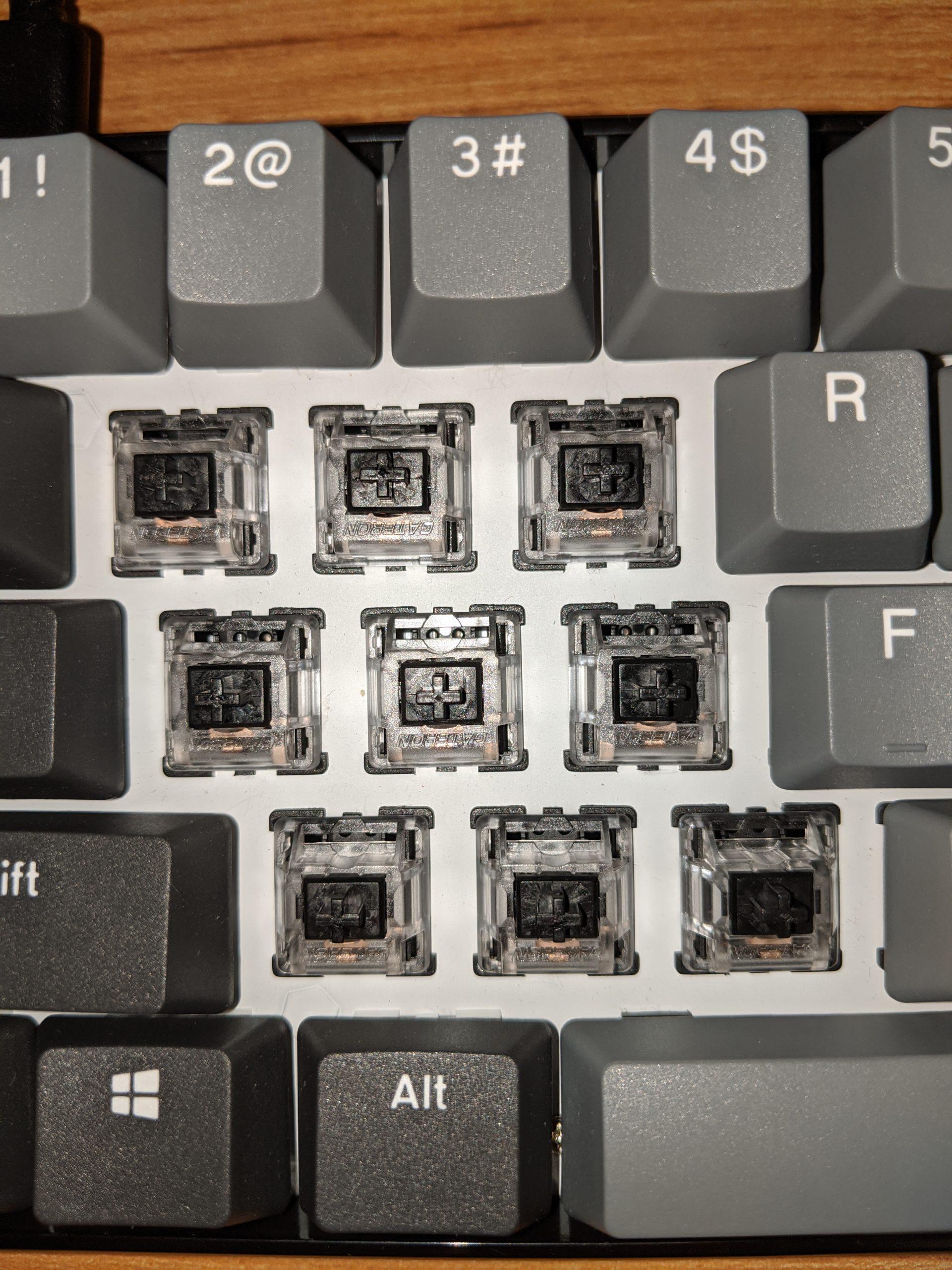 Gateron Black switches.