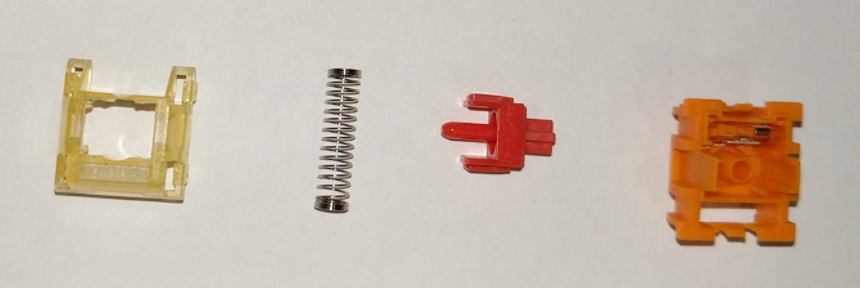 TTC Gold V2 switches disassembled