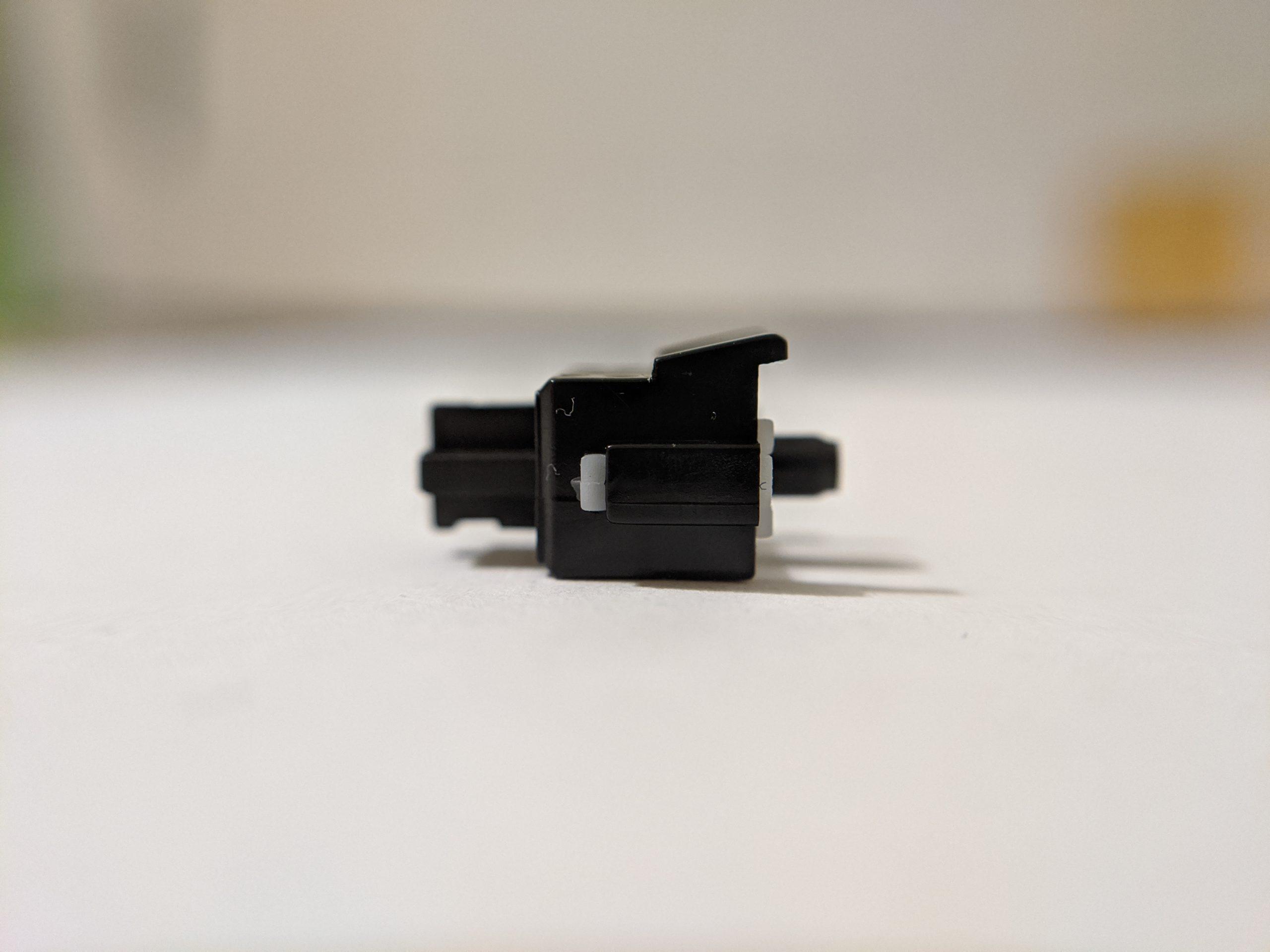 Gateron Silent Black Ink stem side profile