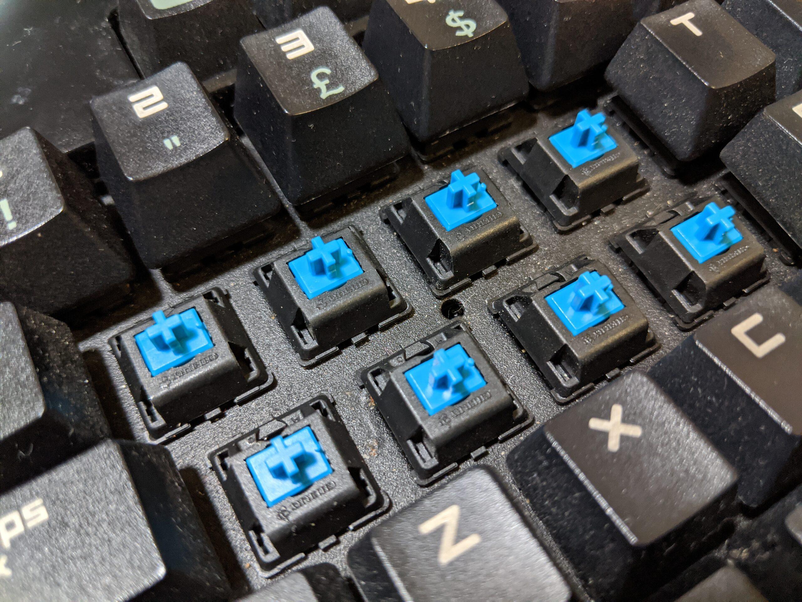 Cherry MX Blue switches