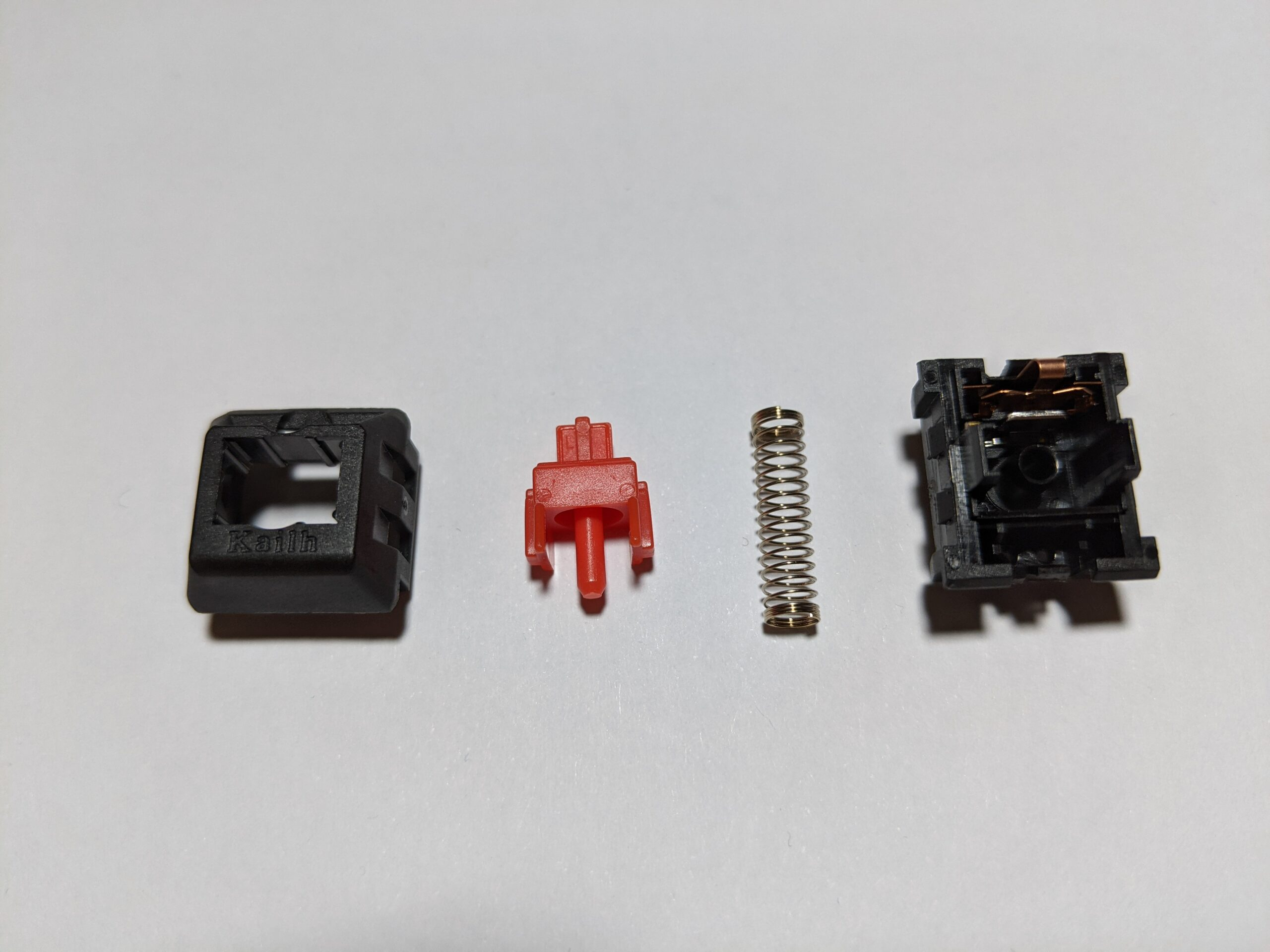 Kailh Red switch disassembled