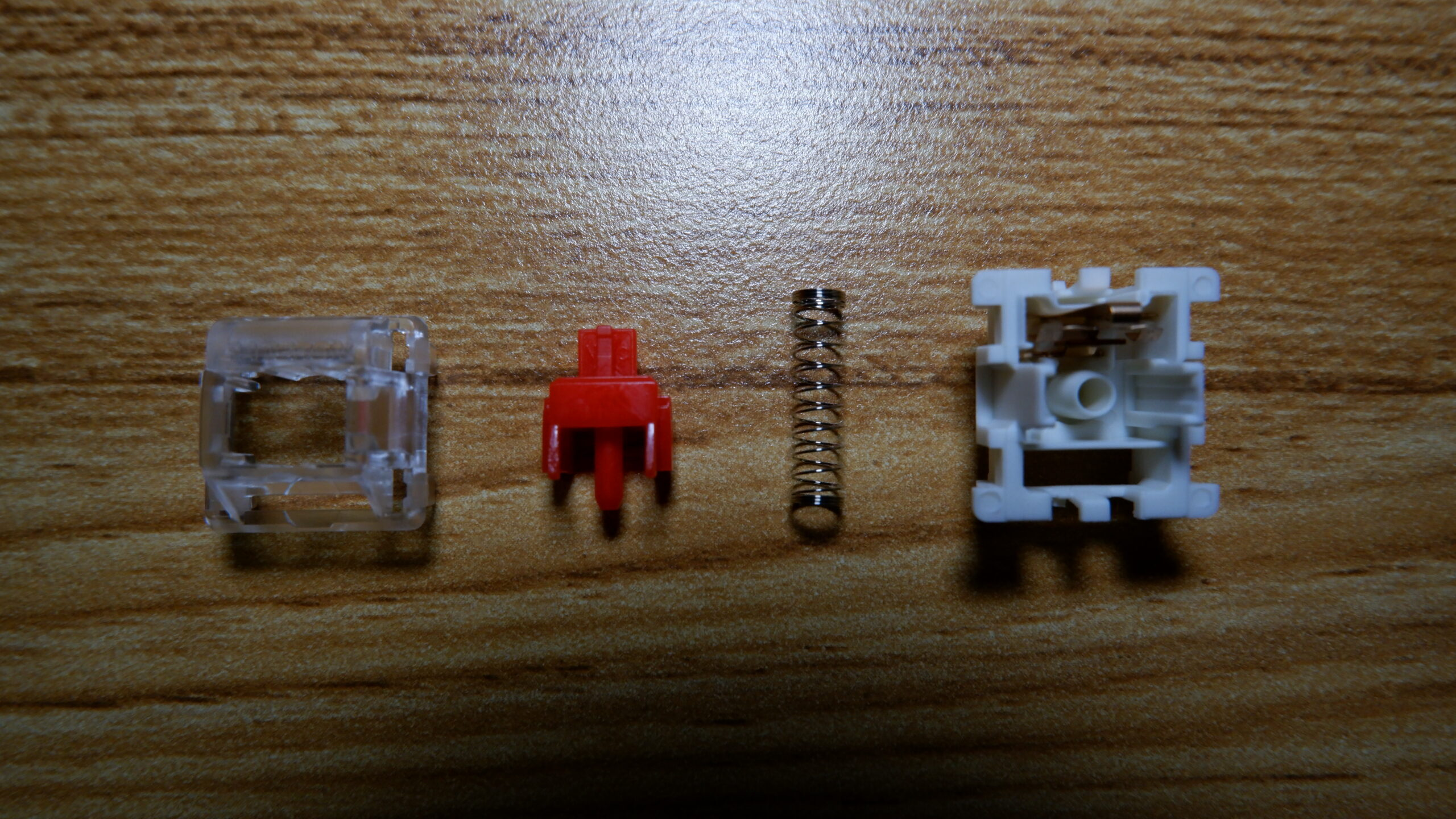 Gateron Red switch disassembled.