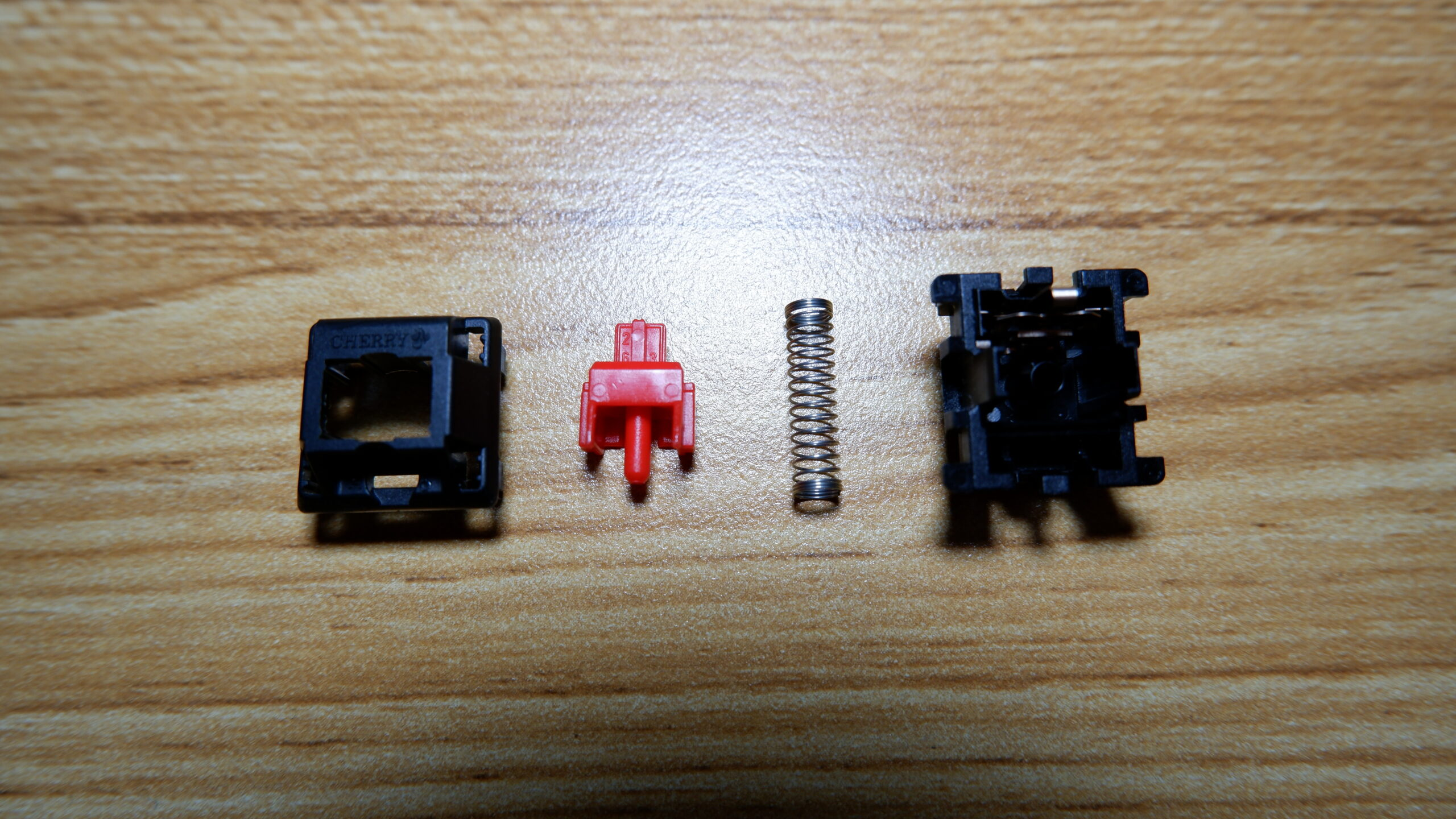 Cherry MX Red switch disassembled