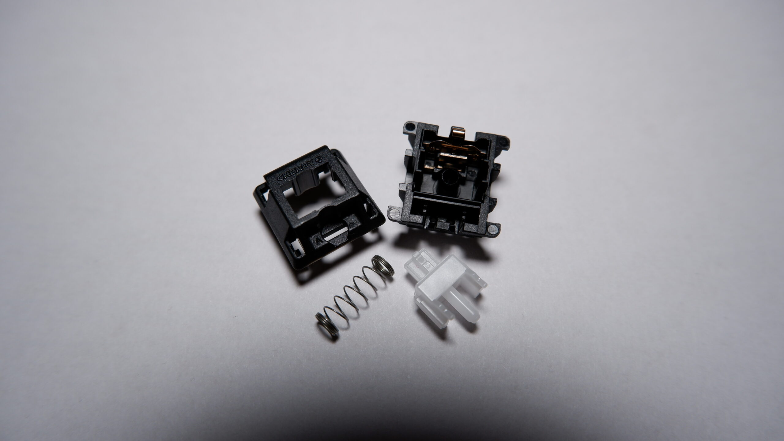 Cherry MX Clear switch disassembled